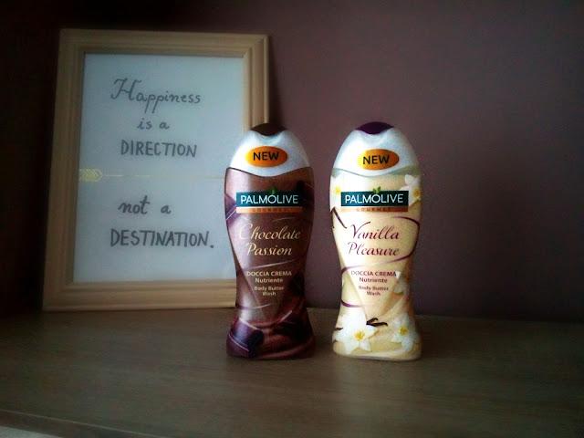 palmolive gelovi za tuširanje, vanilija i čokolada, shower gels