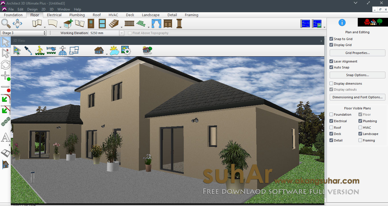 Avanquest architect 3d ultimate plus 2017 19 0 8 full for Architecte 3d avanquest