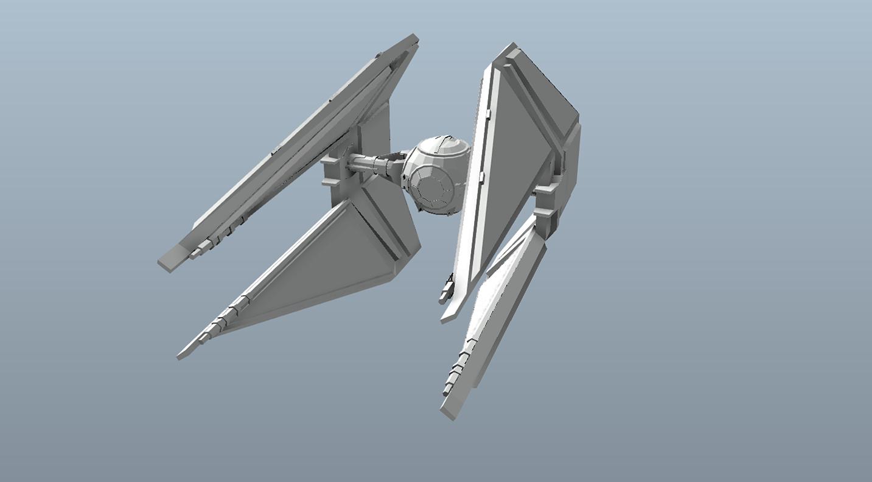 Big Star Wars OBJ Giveaway - Tie Saber 3d model