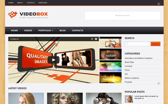 Videobox blogger template for videos; VideoBox is a good template for blogger Blogs magazines and videos.