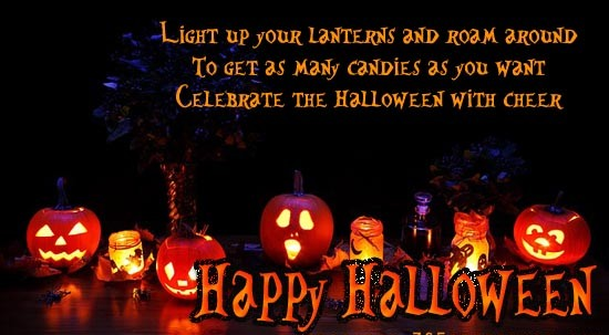 Happy Halloween Wishes Message Quotes SMS Images & Cards 2016