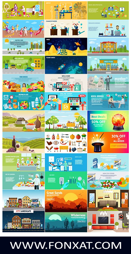 Download images vector design elements templates ready for bed
