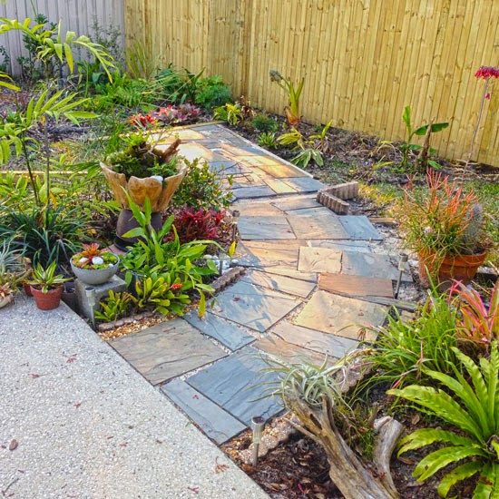 The Rainforest Garden: Before And After My Slate Path