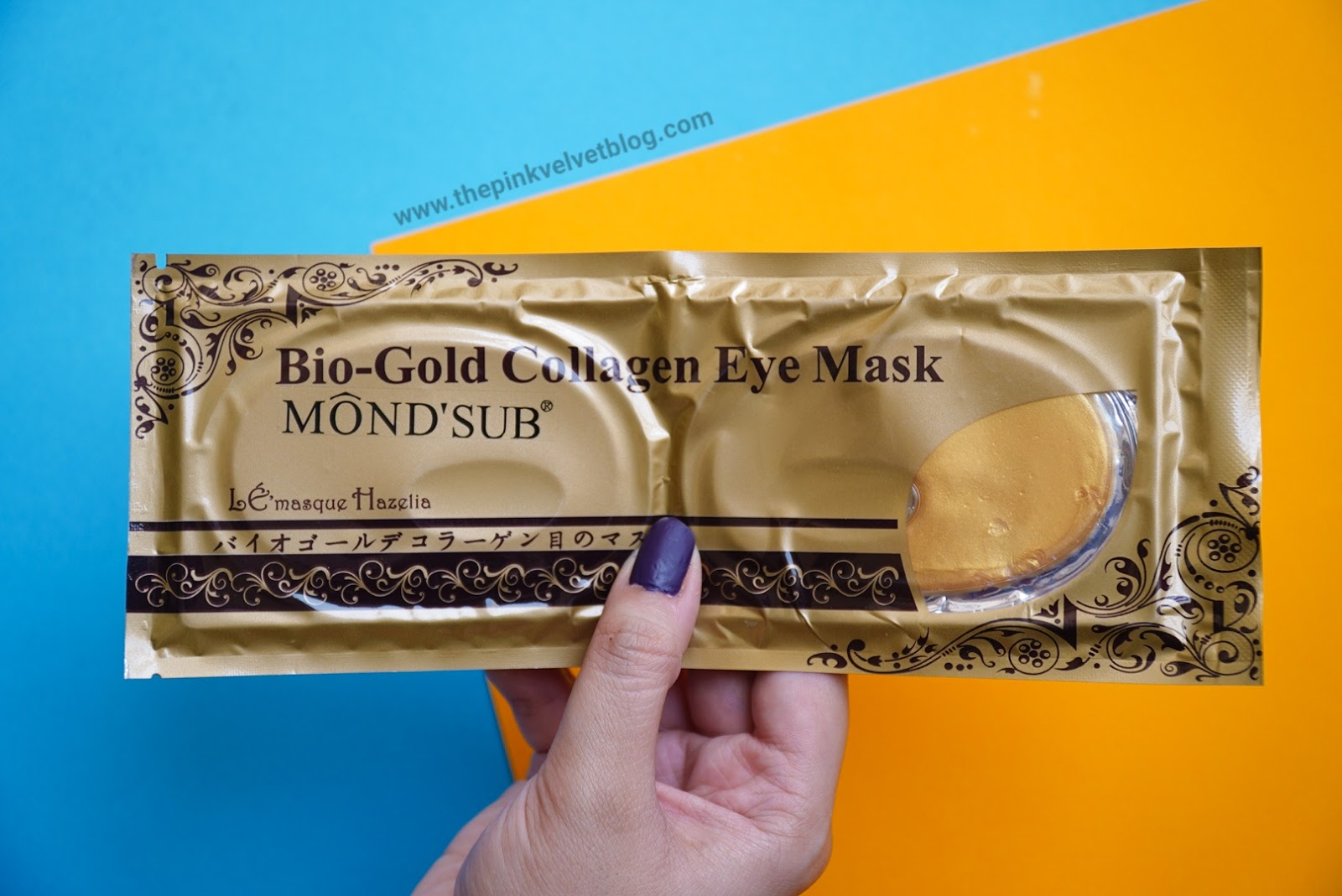 "August 2018 FAB BAG ""Own The Glam"" Unboxing - MOND'SUB Collagen Eye Mask"