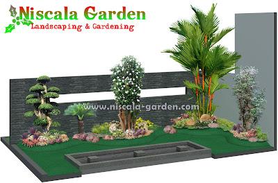 Desain Taman Tropis Modern