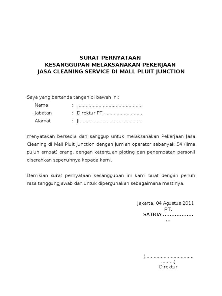 Contoh Surat Pernyataan Atau Perjanjian Simak Gambar Berikut