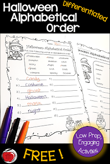 https://www.teacherspayteachers.com/Product/Halloween-Differentiated-Alphabetical-Order-3445272?utm_source=www.classroomfreebies.com&utm_campaign=Halloween%20Alpha%20long%20pin%20CF
