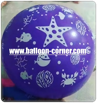 Balon Latex Print SEA WORLD