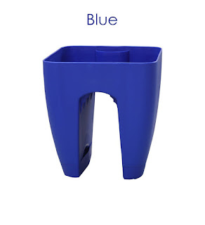 blue railing planters