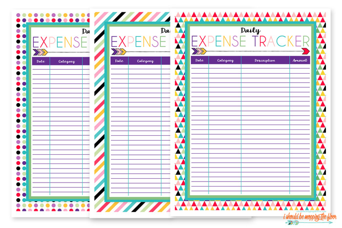 picture relating to Printable Expense Tracker named Totally free Cost Tracker Printable i need to be mopping the surface area