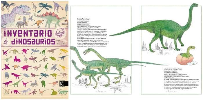 libro informativo conocimientos inventario ilustrado dinosaurios kalandraka