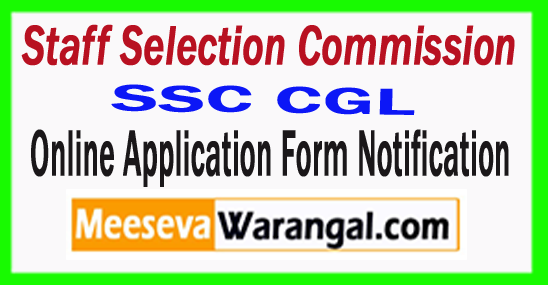 SSC CGL Online Application Form Notification 2017-18