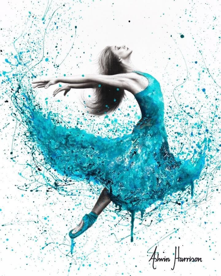 01-Ballet-in-Blue-Ashvin-Harrison-Acrylic-Paintings-www-designstack-co