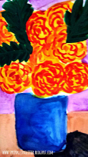 Blooms- watercolor- write 31 days
