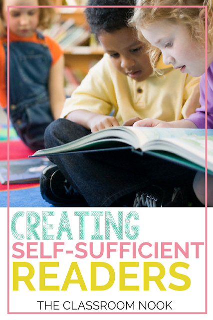 Teach students how to become self-sufficient readers so that they can take take of themselves during reader's workshop to be more productive and cut down on interruptions. #readersworkshop #reading #classroommanagement #teaching