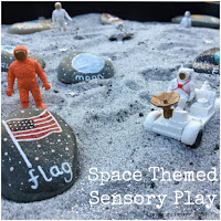 Space Themed Sensory Play. Space week.