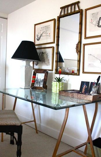 A Glass Top Desk for Our Home Office Driven by Decor
