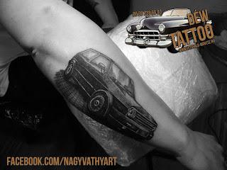 Volkswagen golf 2 tetoválás by: Nagyvati David Tattoo Szeged