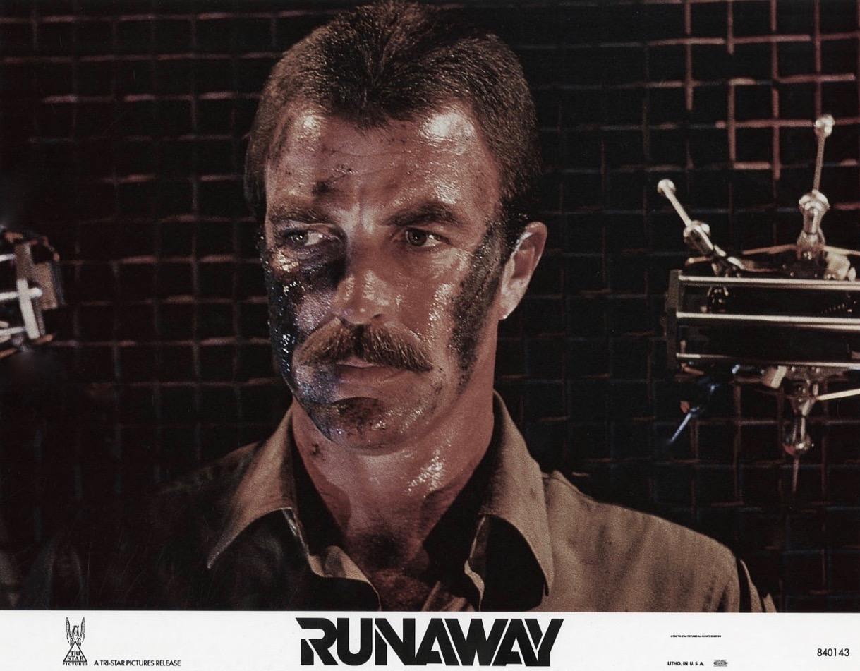 cult film freak tom selleck in michael crichton 39 s runaway. Black Bedroom Furniture Sets. Home Design Ideas