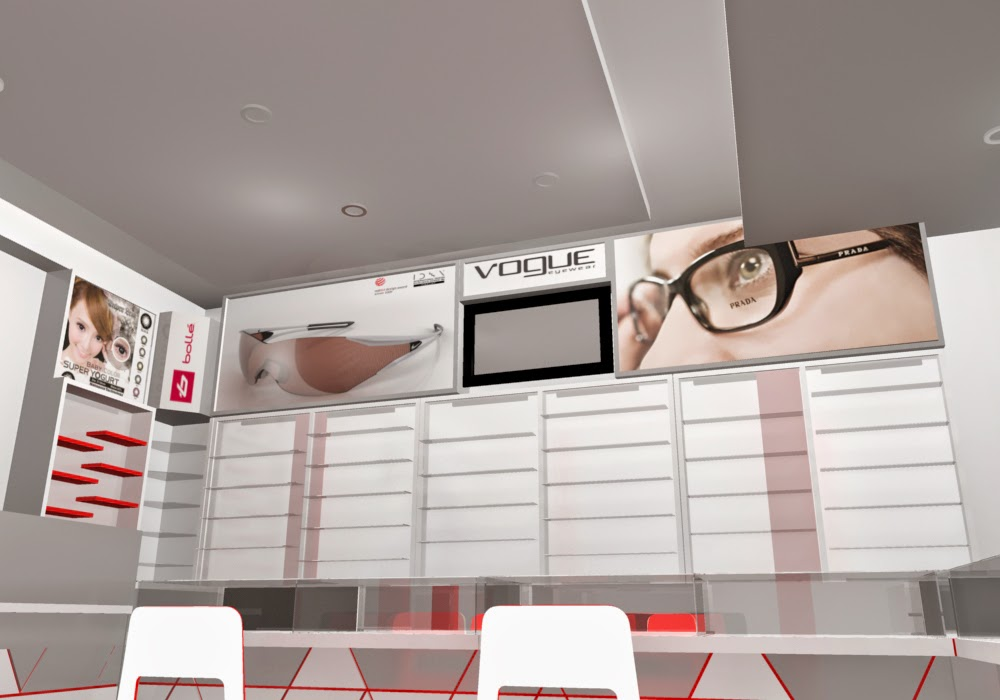 desain 3d Etalase Kacamata dan Interior Untuk Optik - Semarang 04