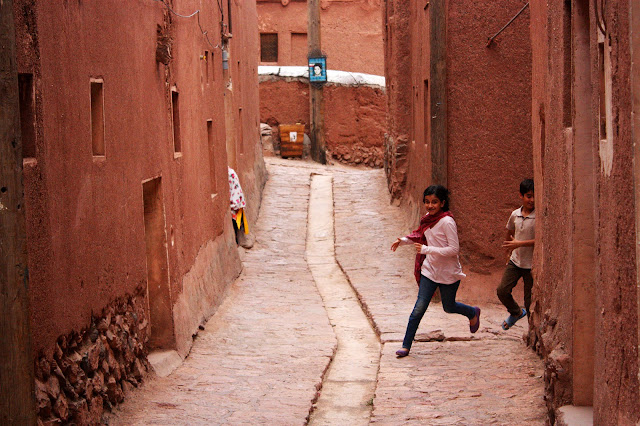 a narrow alley in Iran