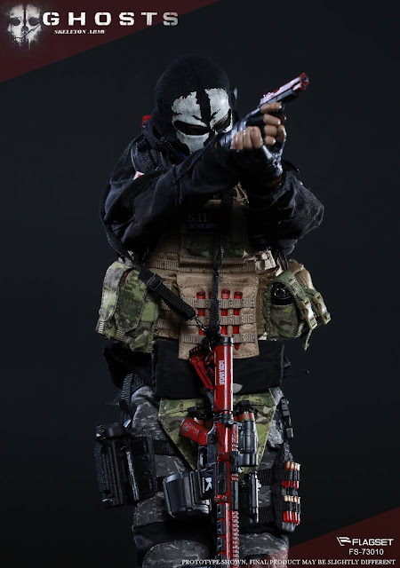 """osw.zone Flagset 1 / 6th Scale Doomsday War Series End War Death Squad """"K"""" Caesar 12-inch figure"""