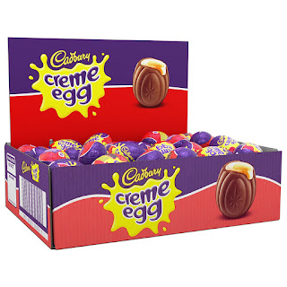 contains Milk, Soy, Eggs, 4 left in stock order soon Cadbury Creme Egg (48) £24.98 chocolate egg box