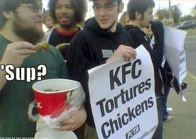 Tierschützer Demonstration lustige Bilder zum lachen