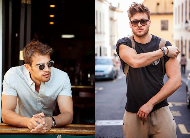looks masculinos com óculos de sol