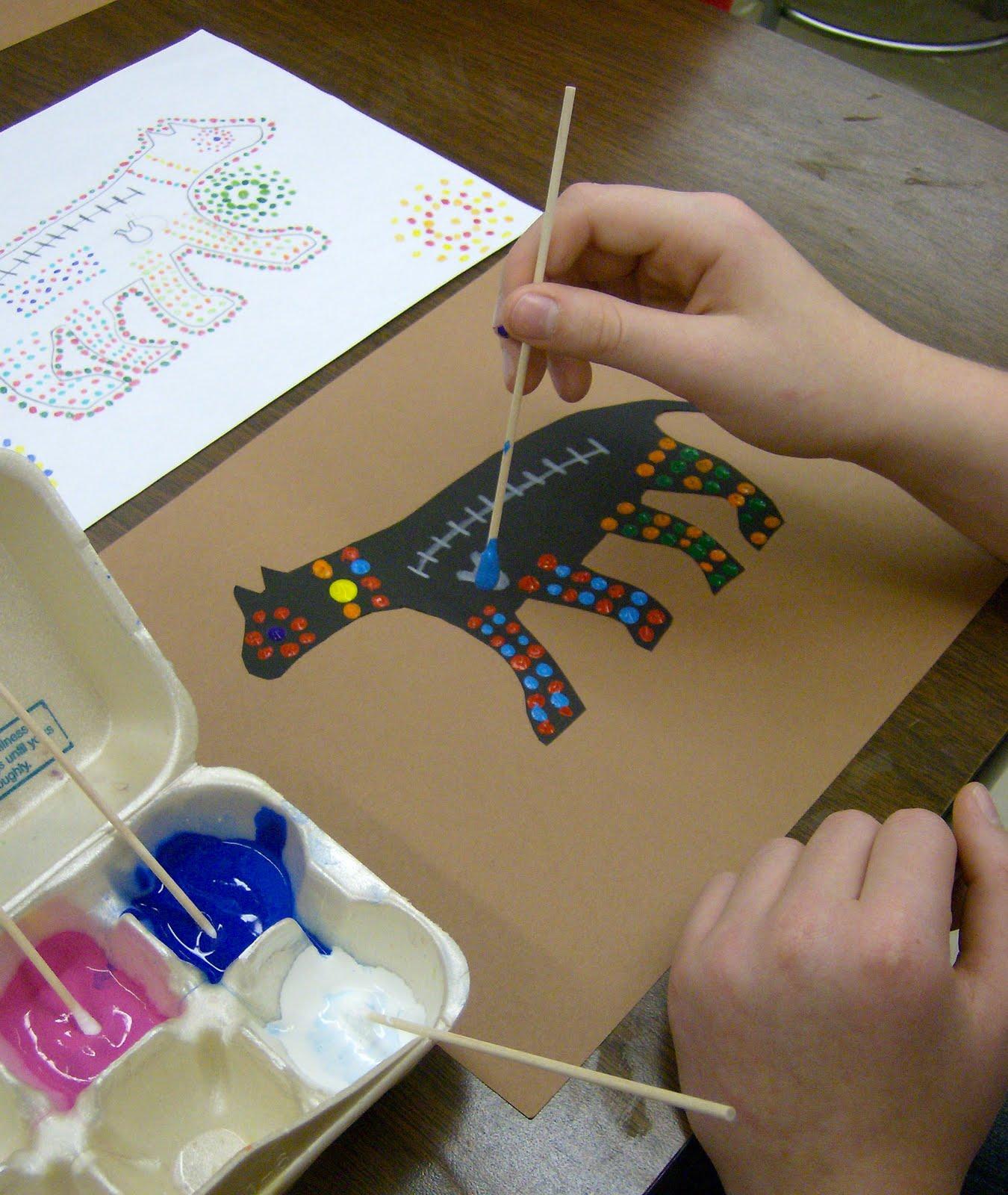 Zilker Elementary Art Class 4th Grade Aboriginal Dot