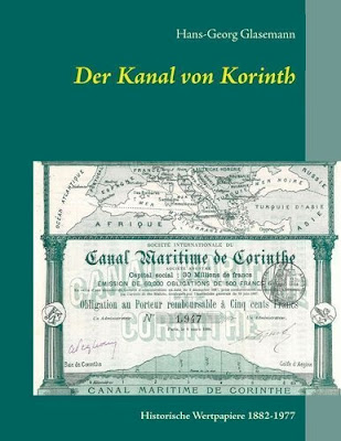 "Cover of the book ""Der Kanal von Korinth"" by author Hans-Georg Glasemann"