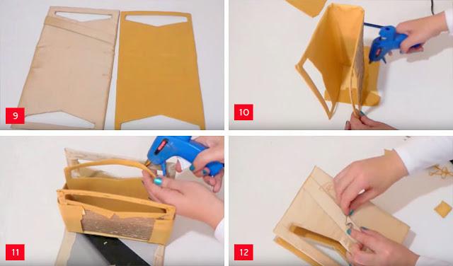 Cara Membuat Tas dari Kardus