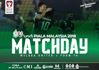 Live Streaming Melaka vs PDRM Piala Malaysia 17.8.2018