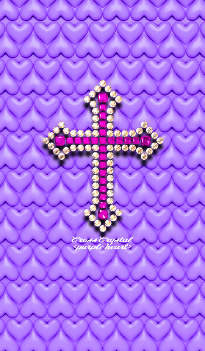 Cross Crystal <purple heart>