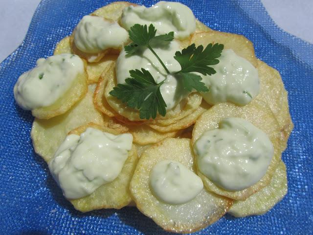 Patatas con ajonesa Thermomix