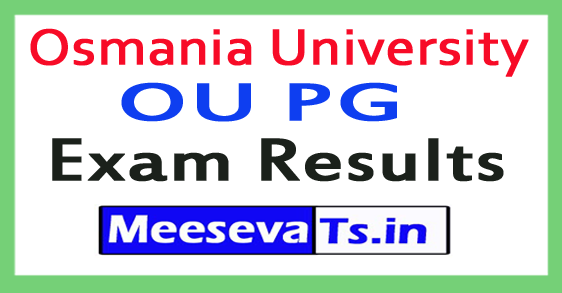 Osmania University OU PG Exam Results 2017