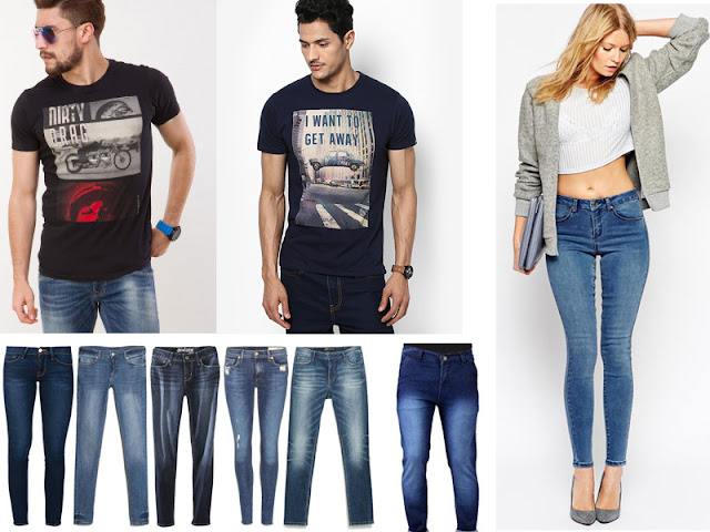 Latest Jeans and T shirts designs and colors