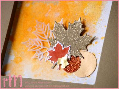 Stampin' Up! rosa Mädchen Kulmbach: Stamp A(r)ttack Blog Hop (7 auf einen Streich): Gold, Kupfer,...so ist der Herbst – Shadow Box Karte mit Pick a Pumpkin, Eichelstanze und Aus jeder Jahreszeit