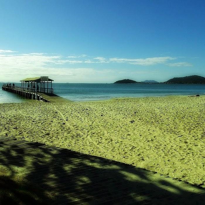 Trapiche na Praia de Canasvieiras, Florianópolis