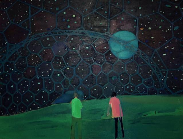 Tom Hammick arte, imagenes de soledad bonitas chidas, pinturas luna y estrellas,