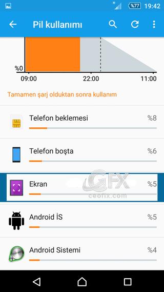 android ekran pil tüketimi