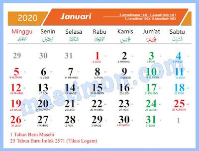 Kalender 2020 PNG dan JPG Full HD
