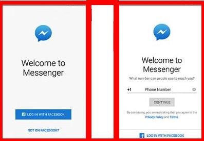 sign up facebook messenger