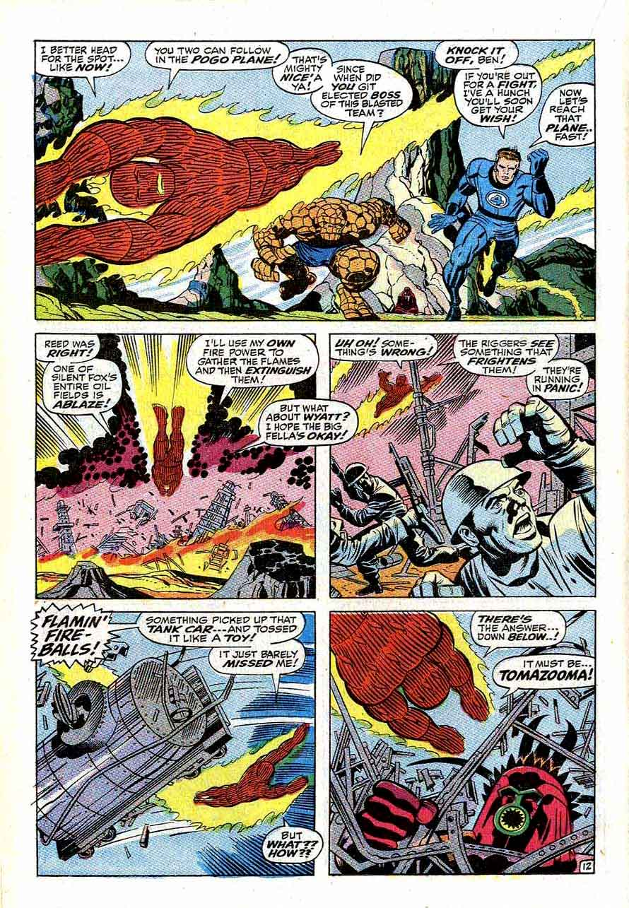 Fantastc Four v1 #80 marvel 1960s silver age comic book page art by Jack Kirby