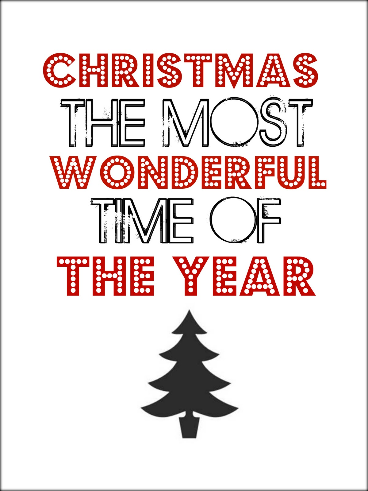 Tattered And Inked Christmas Printable Number 4