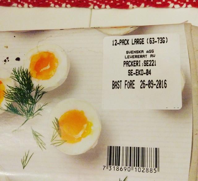 bäst före datum ägg