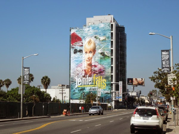 Giant Jennifer Falls season 1 billboard Sunset Strip
