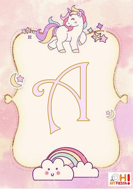 Alfabeto Unicornio My Little Pony