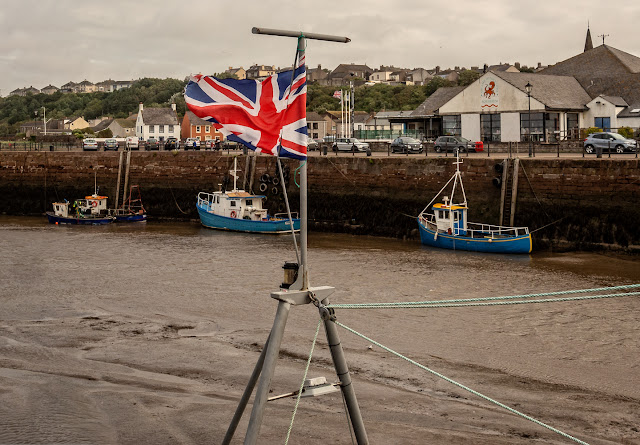 Photo of windy Wednesday in Maryport Harbour
