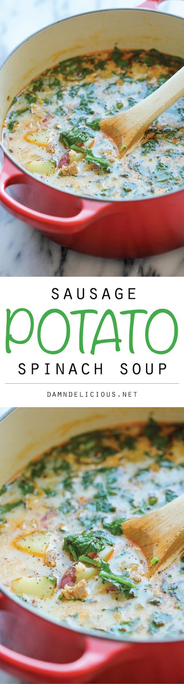 Sausage, Potato and Spinach Soup Recipe